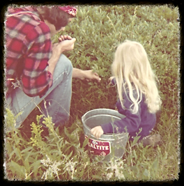 Picking wild berries with my dad.