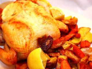 Lemon & Garlic Butter Roasted Chicken