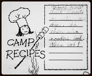 My first recipe book: Girl Scout camp recipes!
