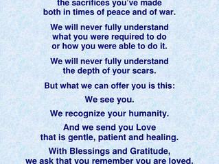 Dear Veterans