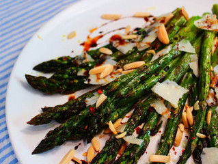 Roasted Asparagus with Balsamic Syrup