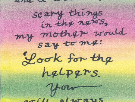 That Fibro MOM: Look for the Helpers