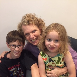 Dr. Melissa Congdon with  Hildi and Alex