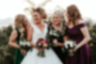 Brisbane wedding flowers including bridesmaid bouquets and flower girl bouquets.
