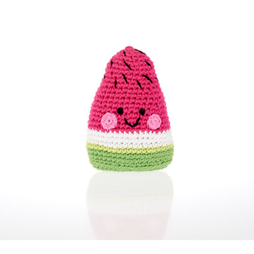 Smiley Watermelon Handmade Rattle