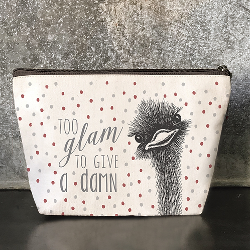 Too Glam Ostrich Cosmetics Bag