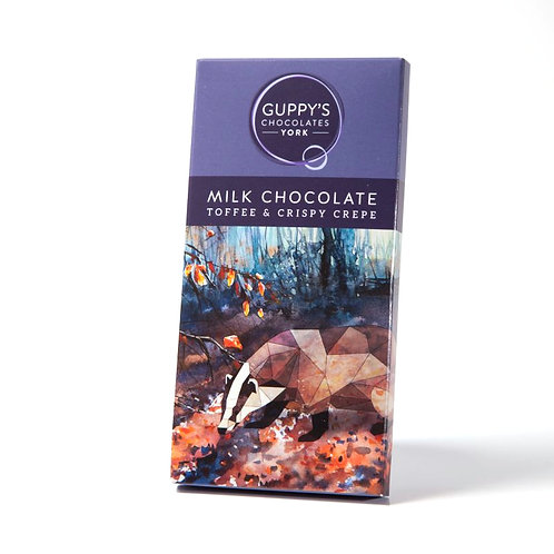 Milk Chocolate Toffee & Crepe - 90g