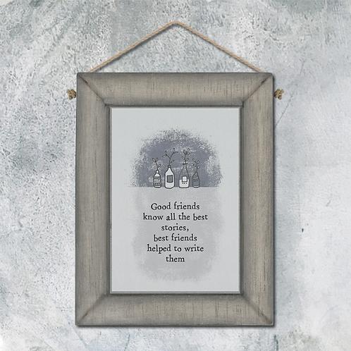 Wooden Message Frame - Grey