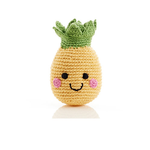 Smiley Pineapple Handmade Rattle