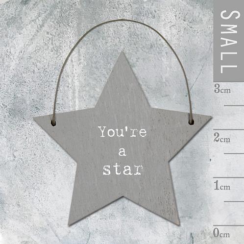 Little Wooden Message Star