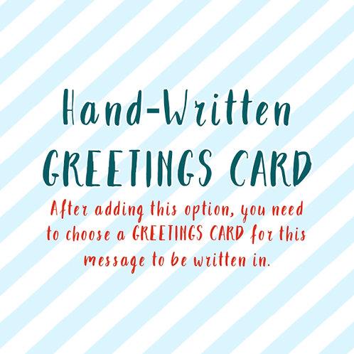 Add A Hand-Written Message