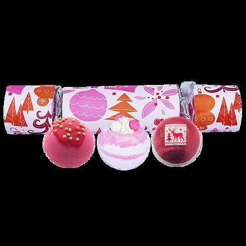 Rosy Christmas Bath Bomb Cracker