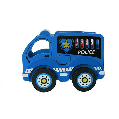 Wooden Police Truck with Chocolates
