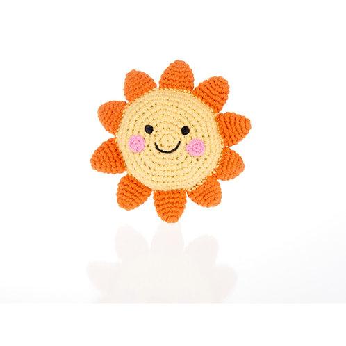 Friendly Sun Handmade Rattle