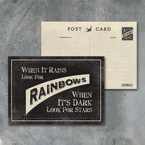 When It Rains Postcard
