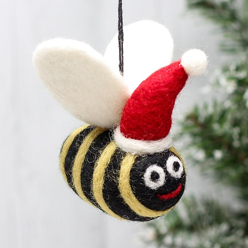 Felt Christmas Bee Decoration