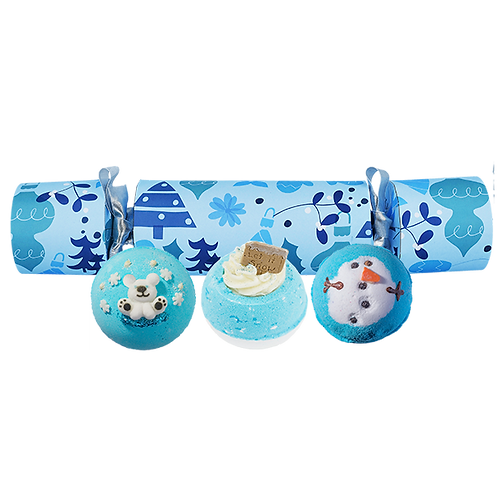 Blue Christmas Bath Bomb Cracker