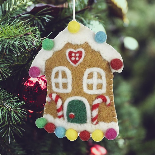 Felt Gingerbread House Decoration