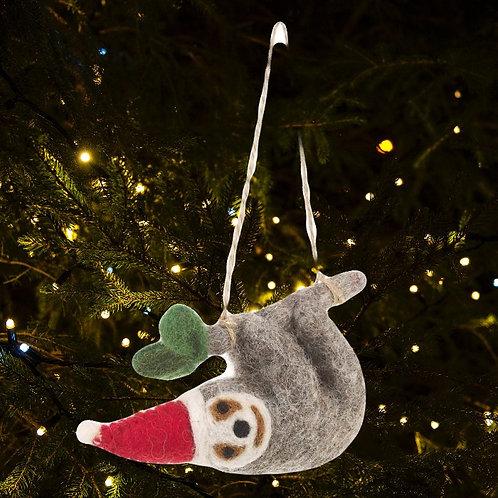 Felt Christmas Sloth Decoration