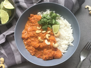 Pompoen curry met kokosmelk