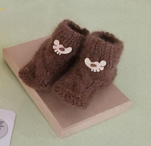 chaussons bébé en laine de baby alpaga