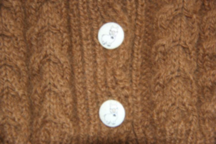 boutons veste enfant en laine e baby alpaga