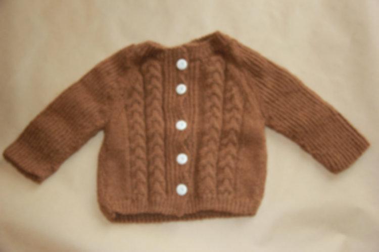 veste enfant en laine de baby alpagas