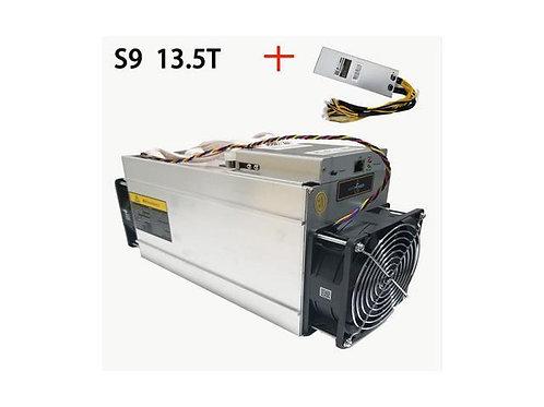 In Stock New AntMiner S9 13.5T Bitcoin Miner ASIC BTC Bitmain Mining Machine Wit