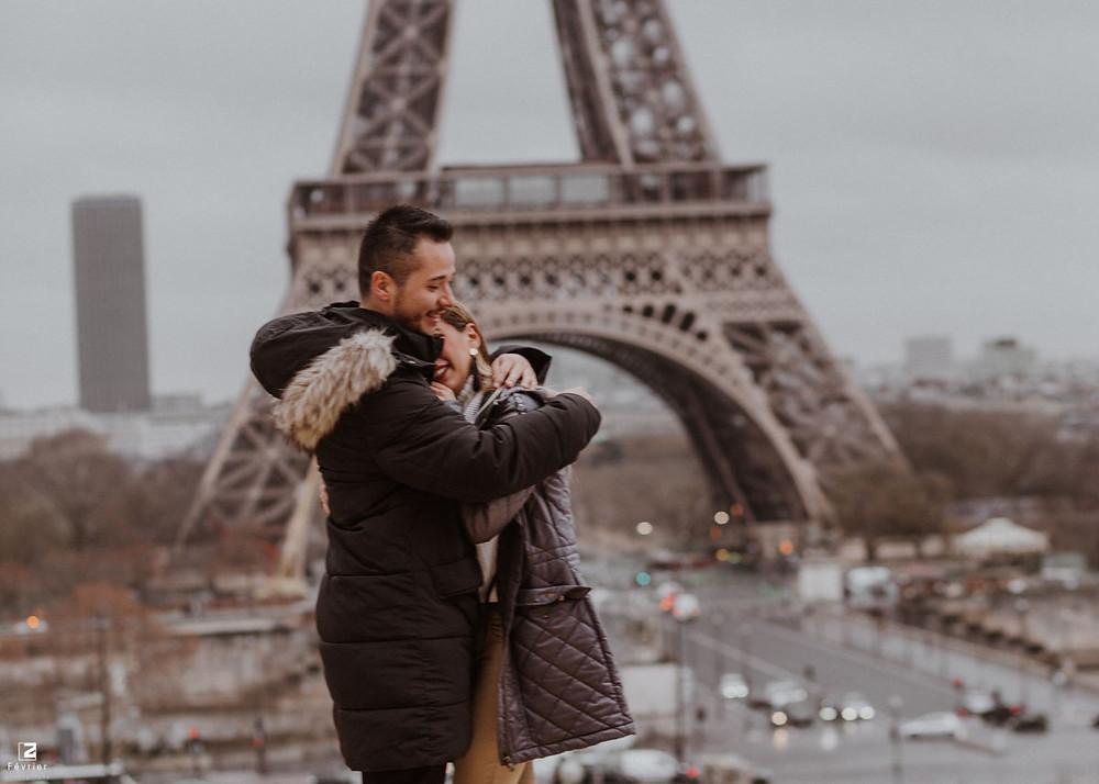 Suprise Proposal in Paris
