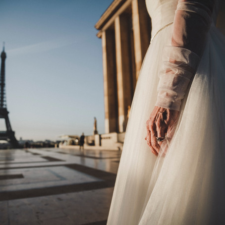 It's never too late to have your wedding photos taken in Paris