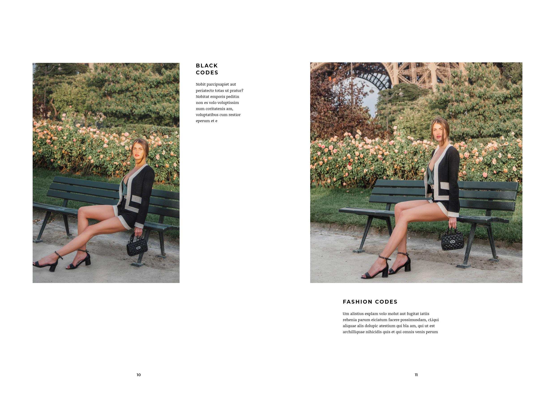fashion lookbook paris black outfit at eiffel tower