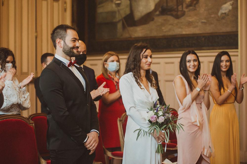 paris wedding photographer mairie ceremony