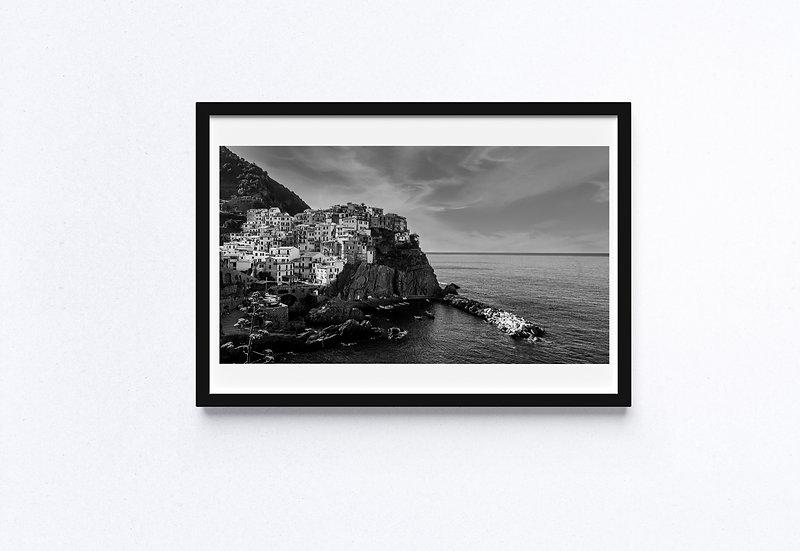 Black & White Fine Art Print - Cinque Terre - Italy - Landscape
