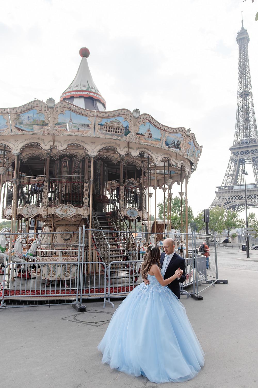 paris quinceanera girl dance with her dad