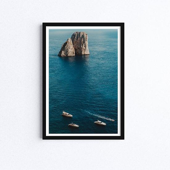 Amalfi Coast, Capri Island, Naples, Italy, Landscape Photograph