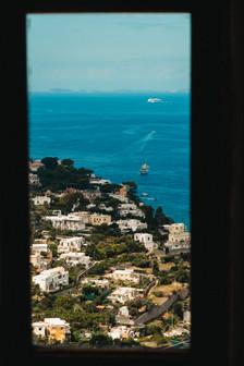 Amalfi Coast the coast through a window