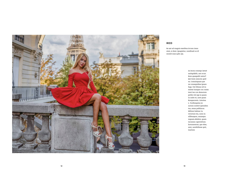 fashion lookbook paris red dress at eiffel tower