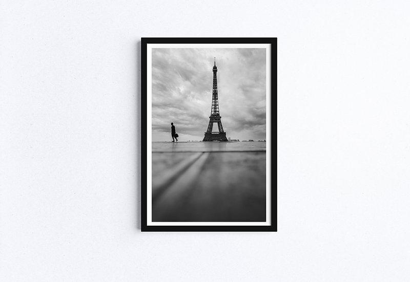 Black and White fine art print Eiffel Tower