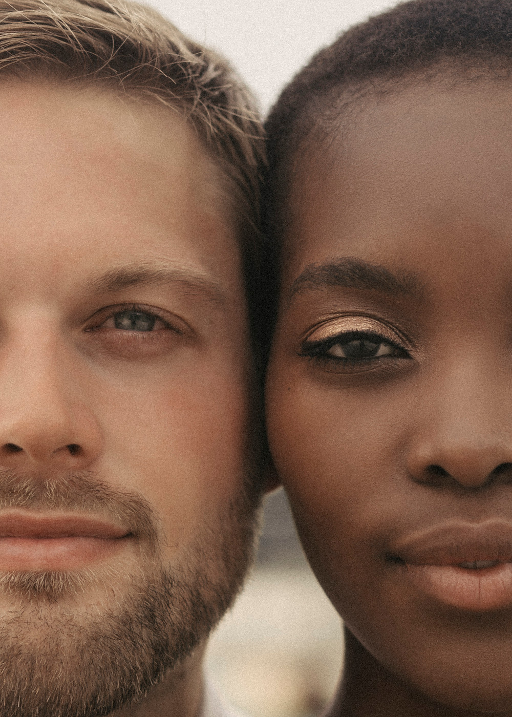 Interracial Couple Photo Portrait