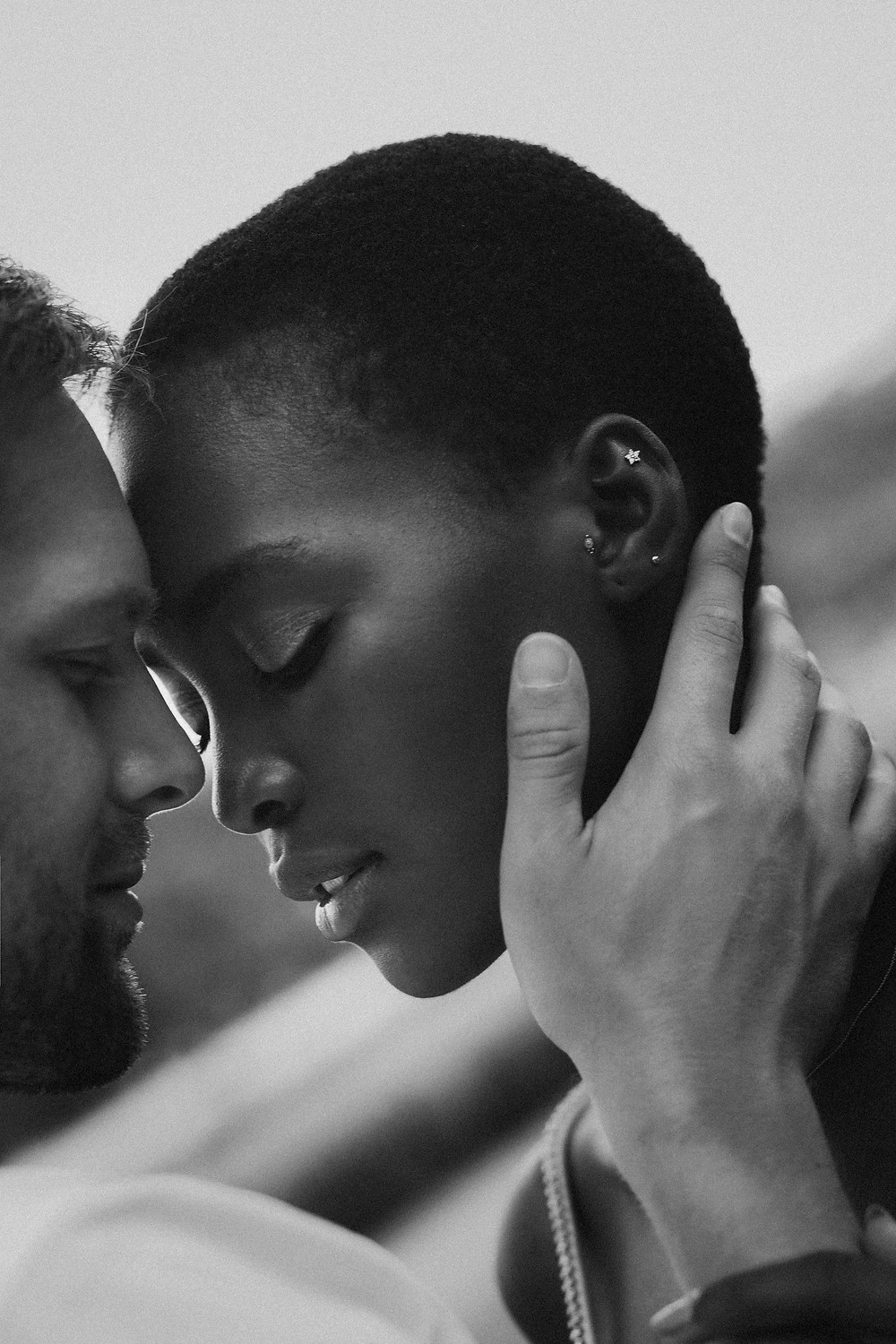 Interracial Couples Photo Black and White