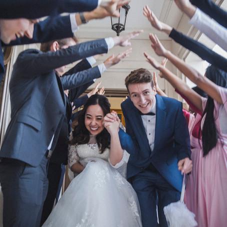 Gorgeous Christian Wedding at Paris France Temple