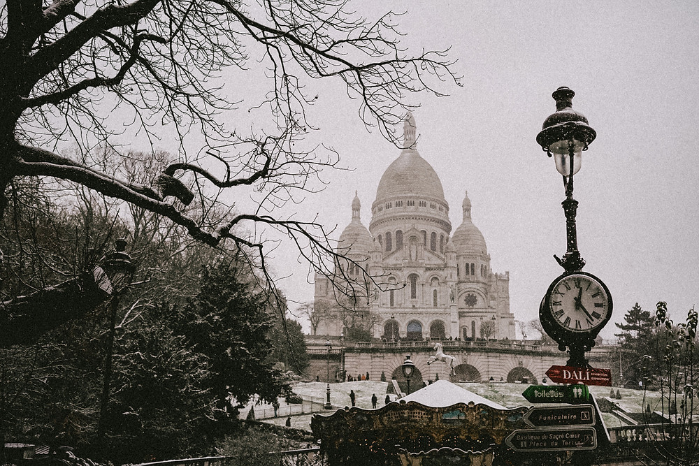 snow in paris 2021 montmartre