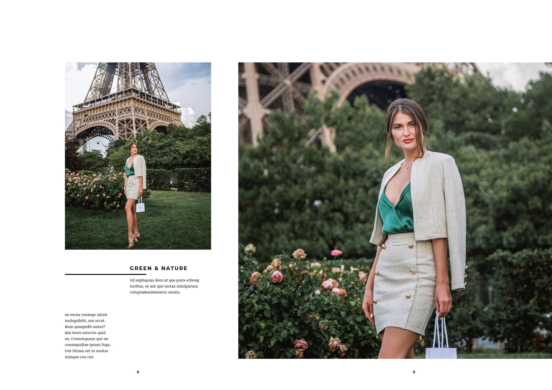 fashion lookbook paris model at eiffel tower