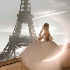 ảnh cưới tháp Eiffel