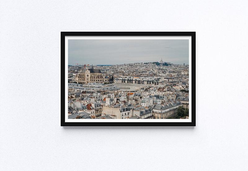 Fine Art Print Paris Cityscape