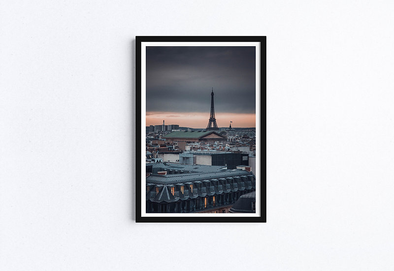 Paris Eiffel Tower at Twilight Fine Art Print