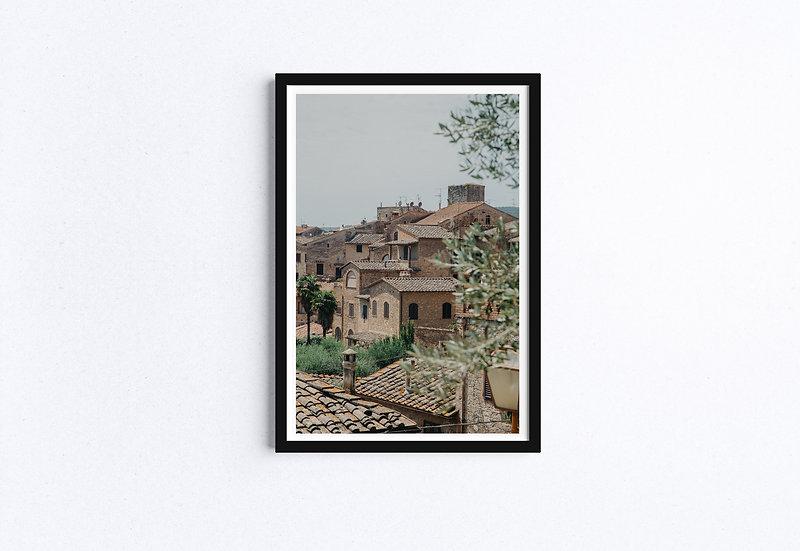 Fine Art Print - Tuscany Village - Italy