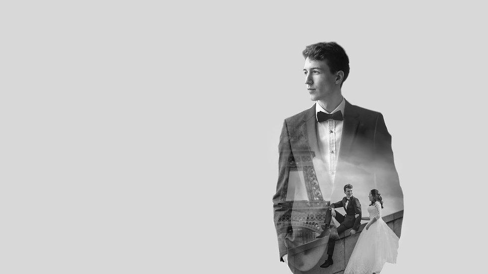 paris-photo-shoot-wedding-couple-black-and-white-photo