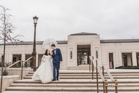 christian wedding at Paris France Temple