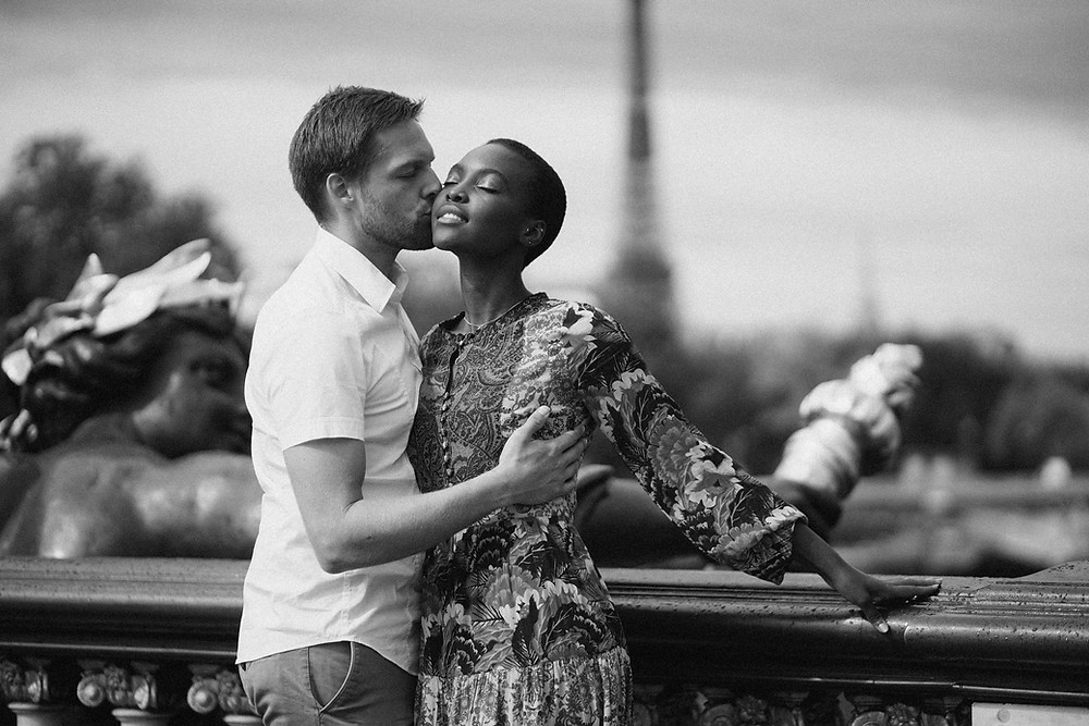 Interracial Couples photography black and white